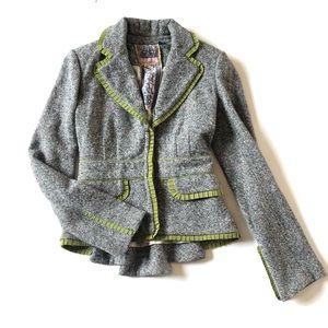 L.A.M.B. Jackets & Coats - L.A.M.B. Pleated Tweed Blazer Like New EUC by LAMB